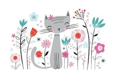 floral-cat