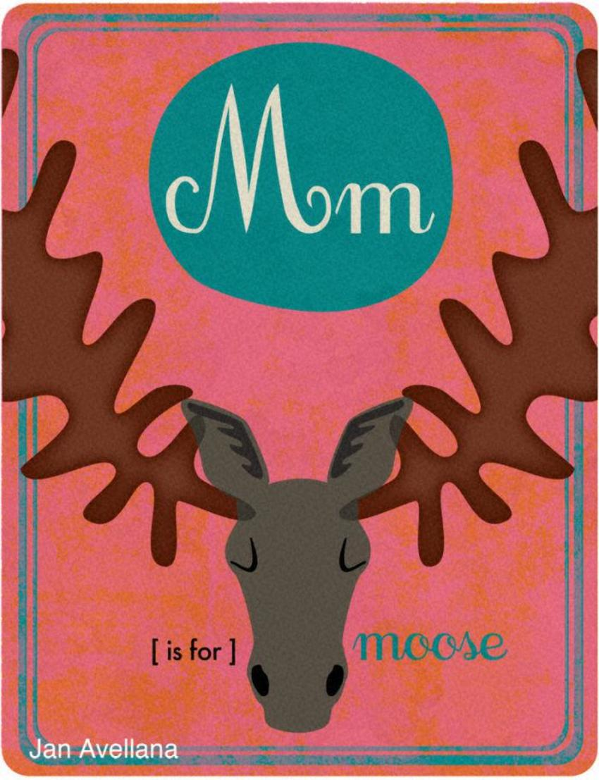 Alphabet M Is For Moose