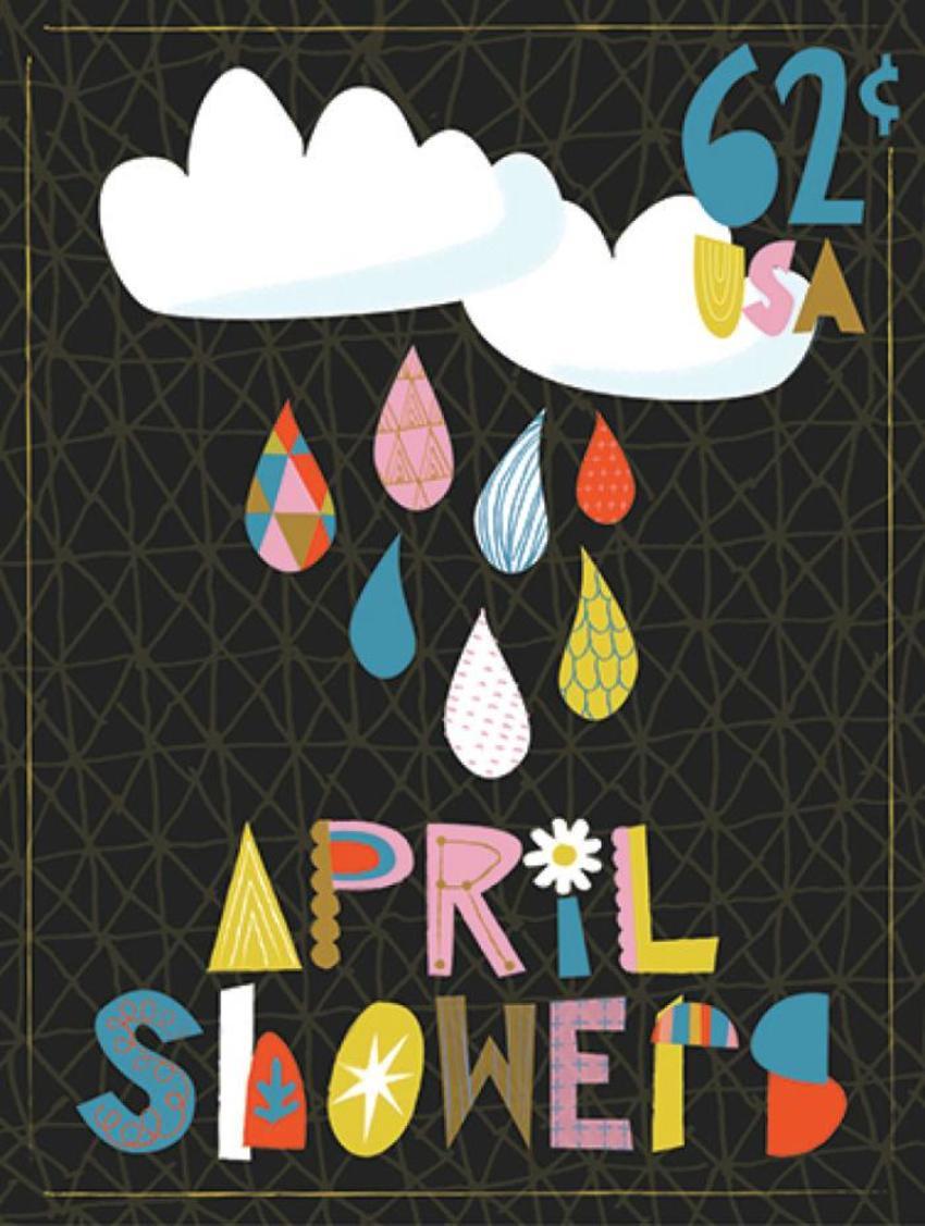 April Showers Stamp