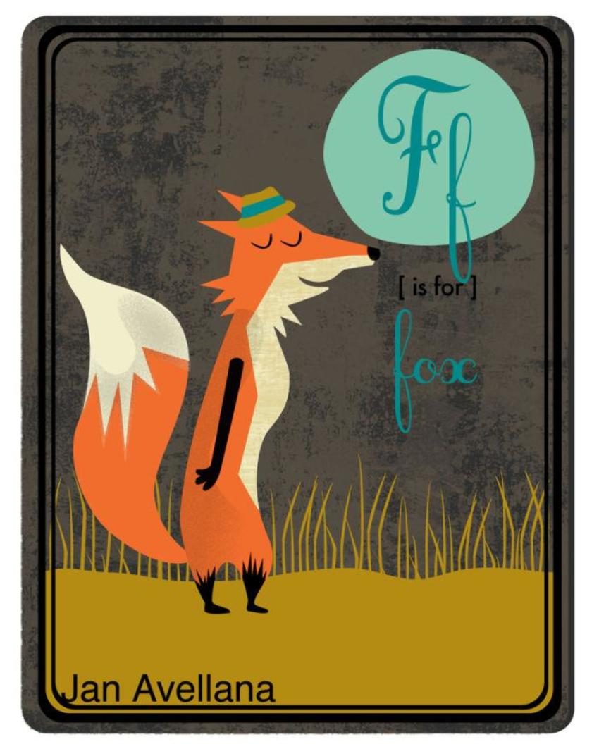 Alphabet F Is For Fox