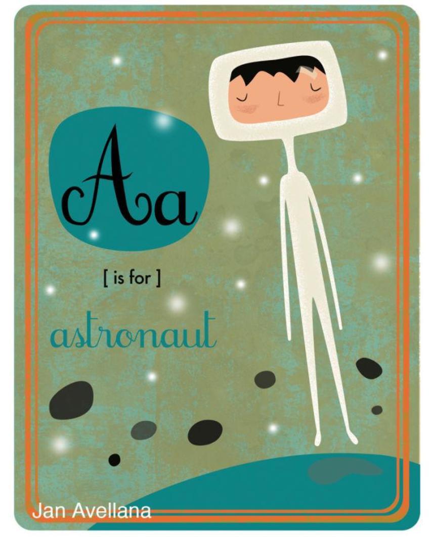 Alphabet A Is For Astronaut