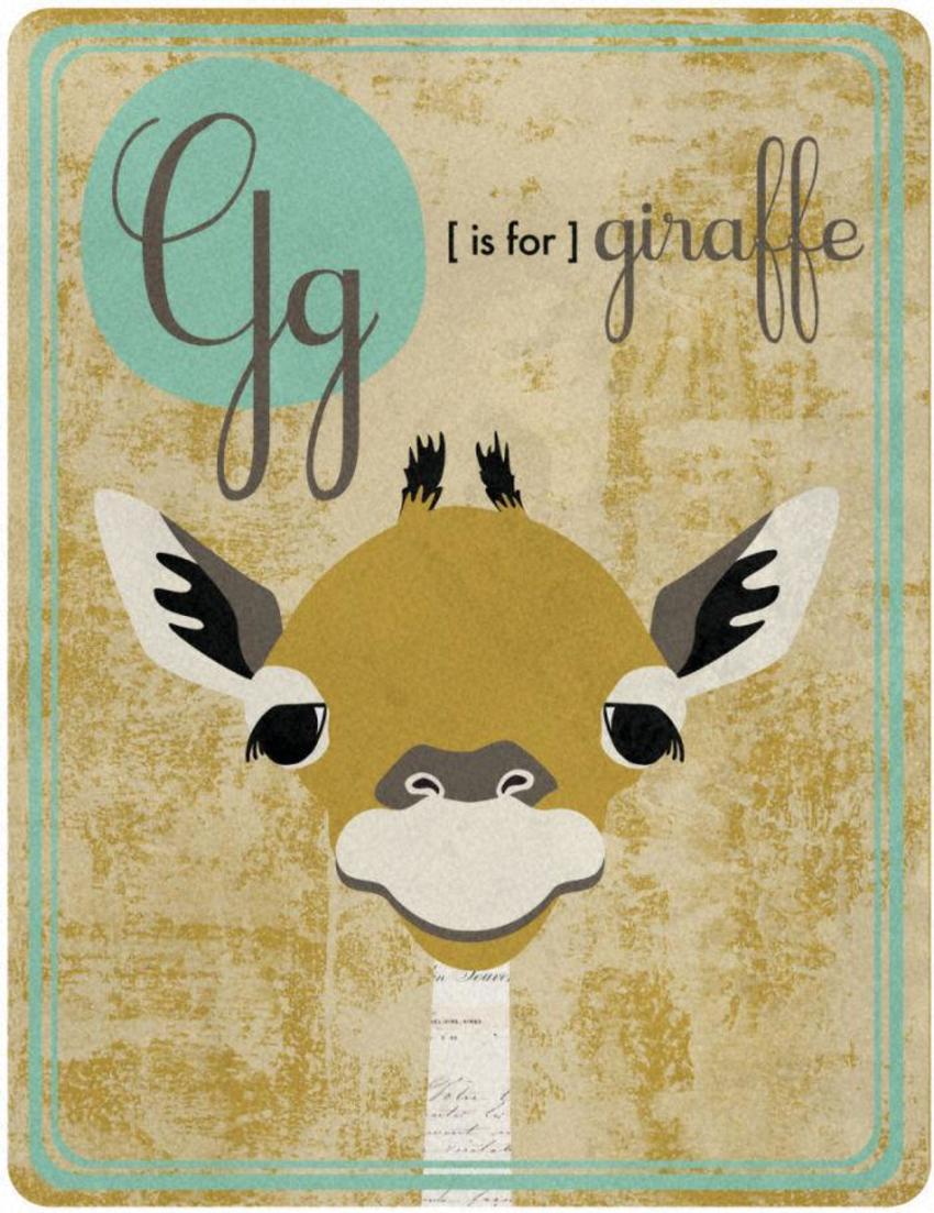 Alphabet G Is For Giraffe