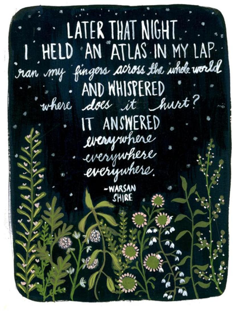 I Held An Atlas In My Lap Quote