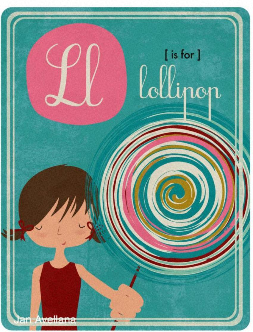 Alphabet L Is For Lollipop