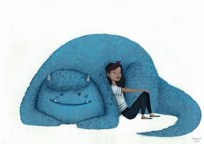 bluemonster-and-girl