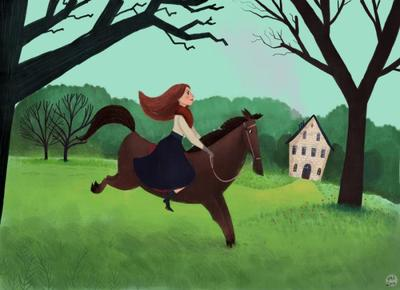woman-and-horse