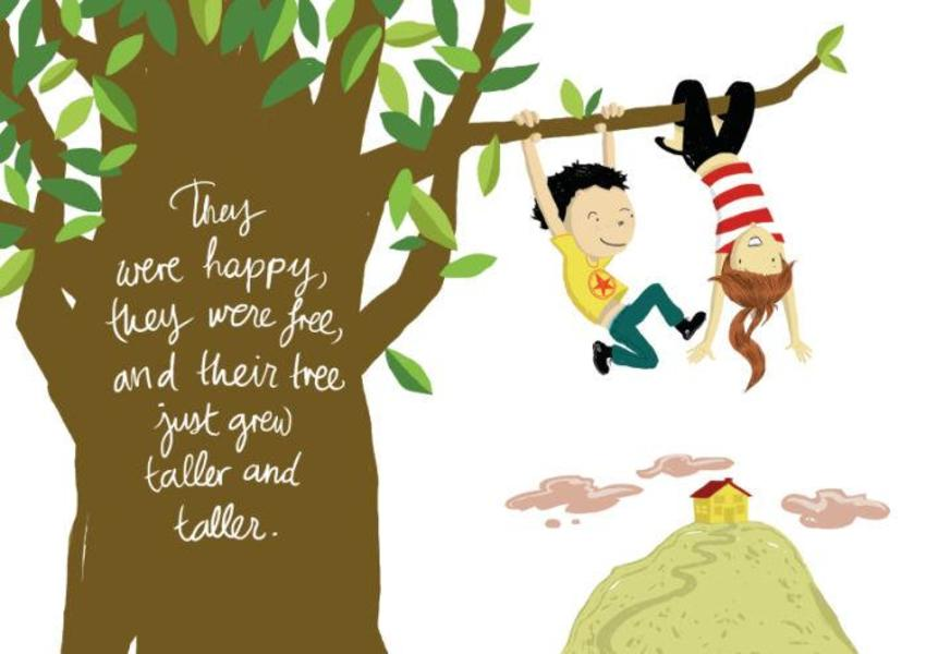 Tree Love Lettering