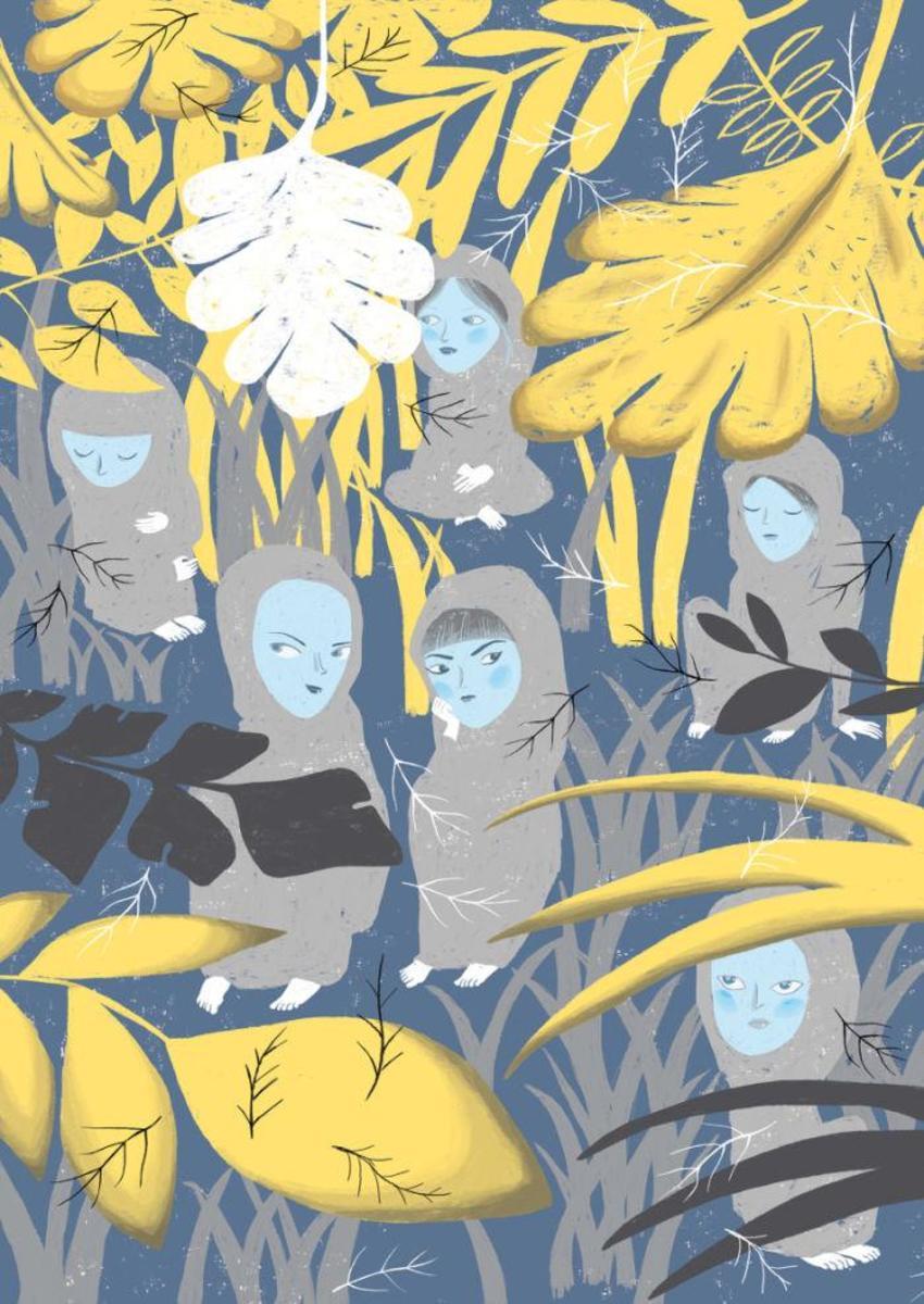 Girls Plants Hoods