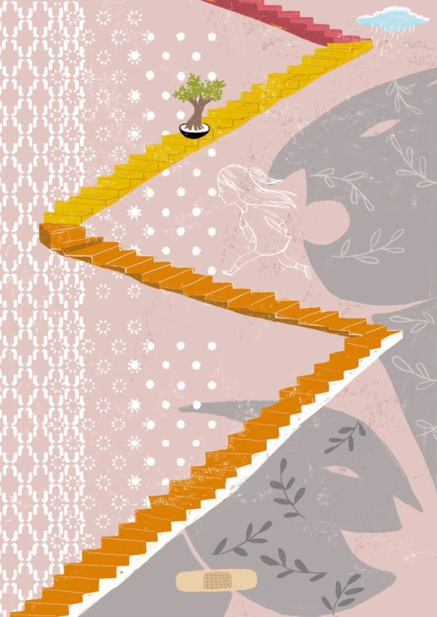 Girl Staircase