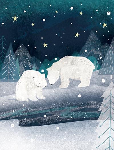 polar-bears-by-forest-stream-jpg