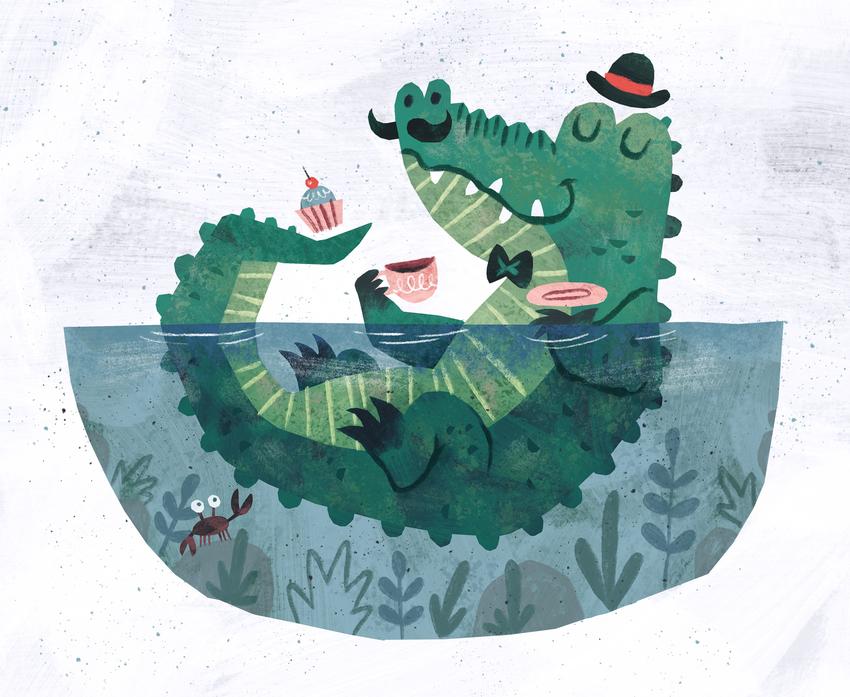 Crocodile with cup of tea.jpg