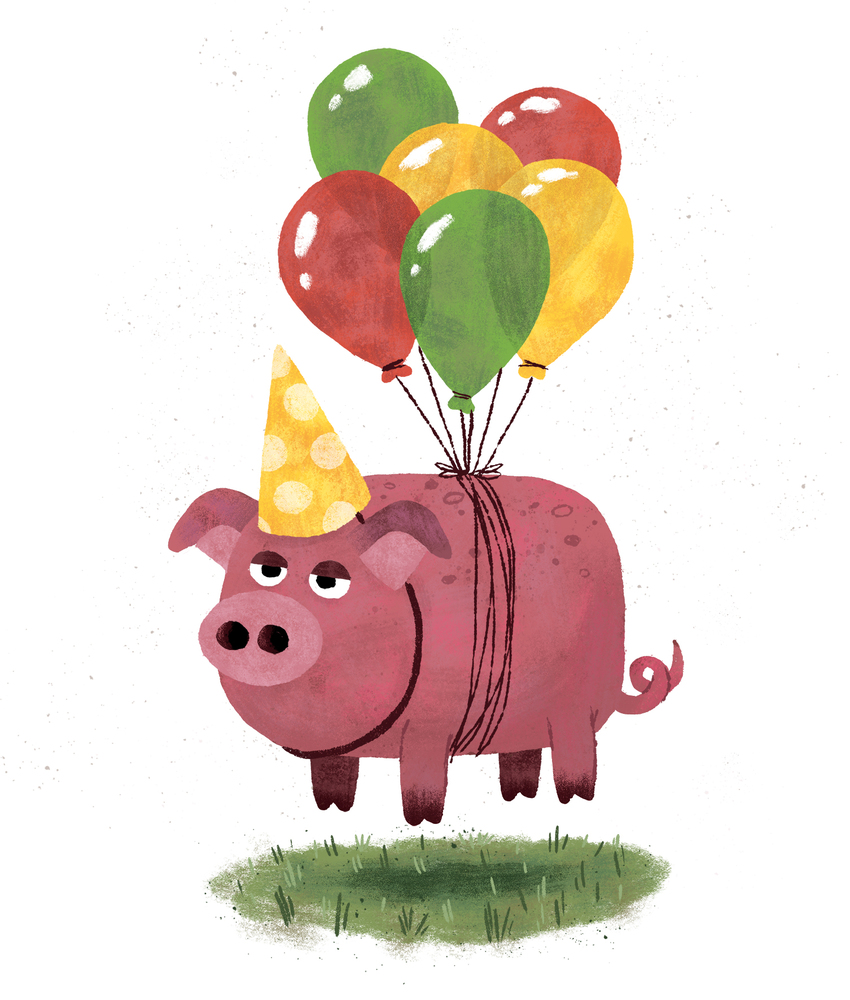 Party Pig floating with balloons.jpg