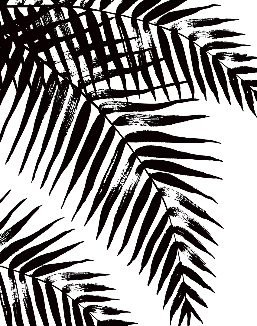 black and white palm leaves1 palm tree tropical wall art surface design ceramics.jpg