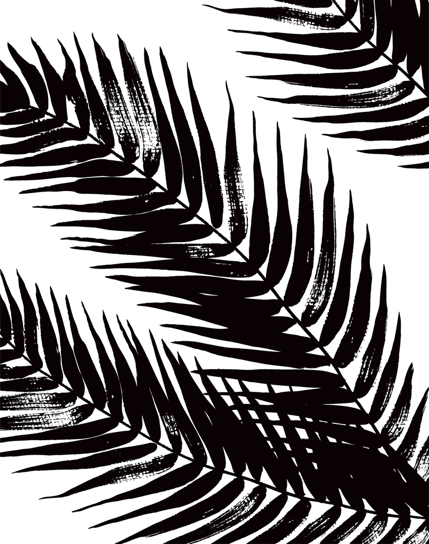 black and white palm leaves2 palm tree tropical wall art surface design ceramics.jpg