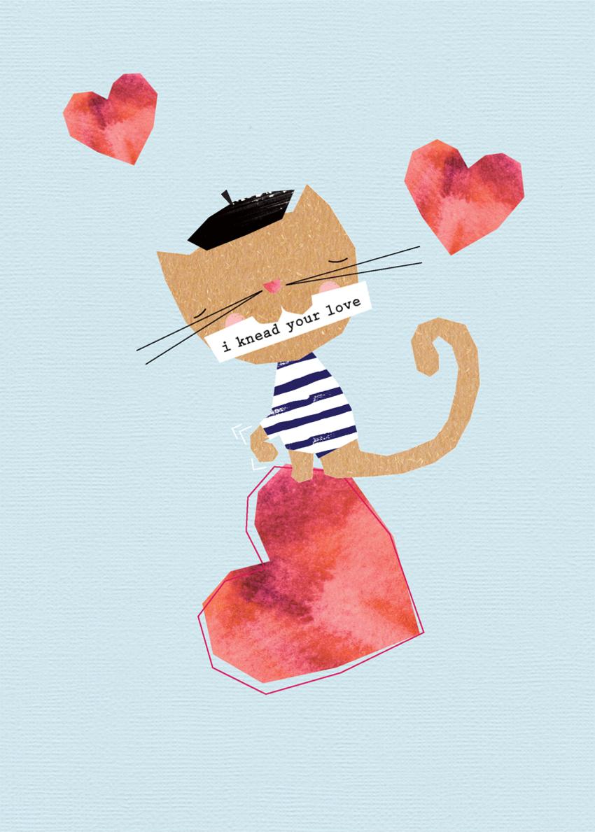 valentines day anniversary love wife partner girlfriend comic humour geometric contemporary cute cat kneading heart.jpg