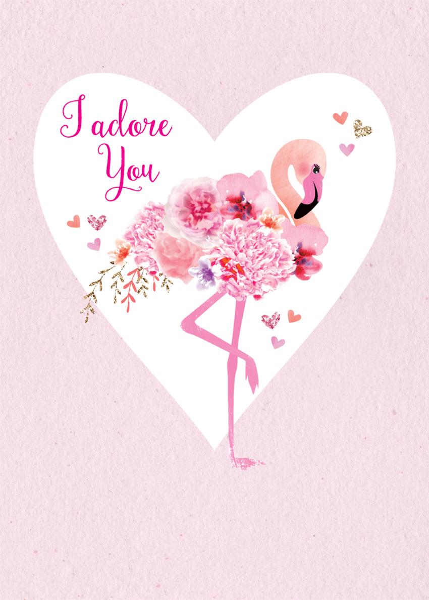 valentines day anniversary love wife partner girlfriend pink flamingo with flowers.jpg