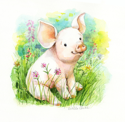 e-corke-pig-flowers-spring-easter-birthday-greetings-jpg