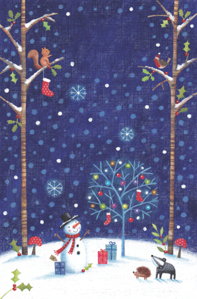 woodland-scene-with-snowman-png