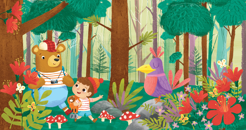 boy and bear in forest.jpg