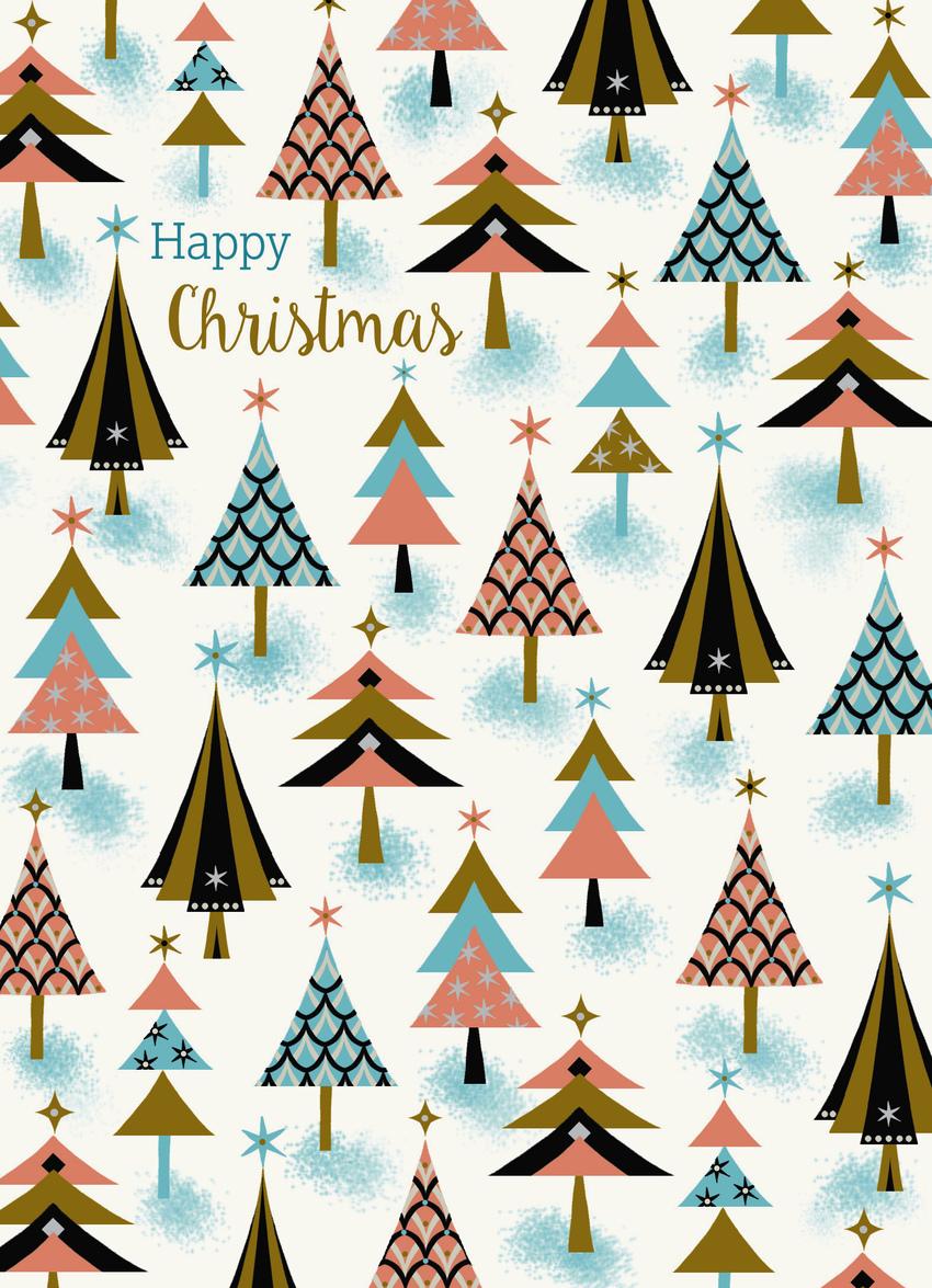 art deco gold pastel christmas trees.jpg