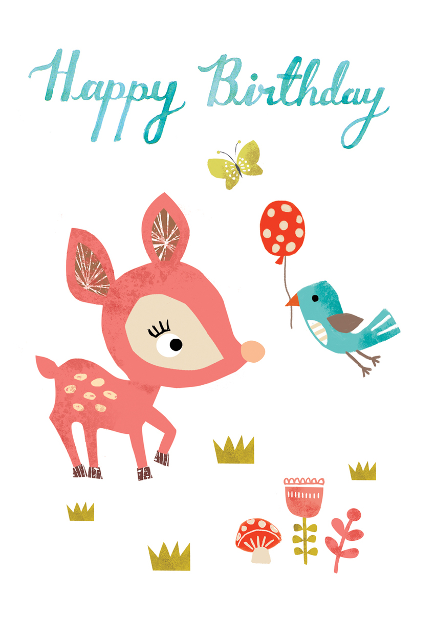 Louise Anglicas_deer birthday balloon bird woodland.jpg