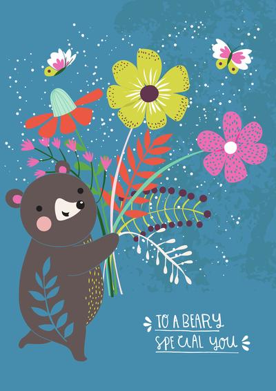 bear-and-bunch-of-flowers-gina-maldonado-jpg