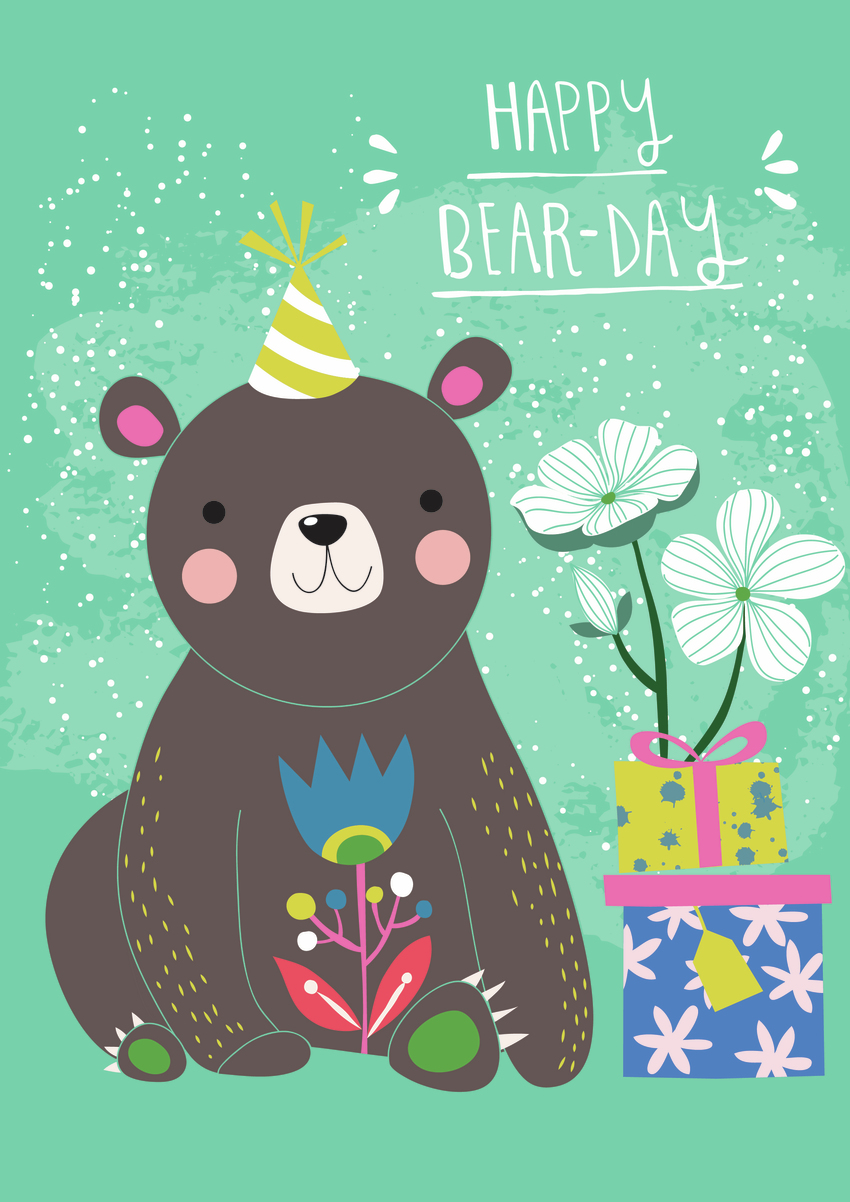 Bear and presents - Gina Maldonado.jpg