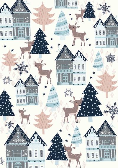 contemporary-deer-and-gingerbread-houses-gina-maldonado-jpg