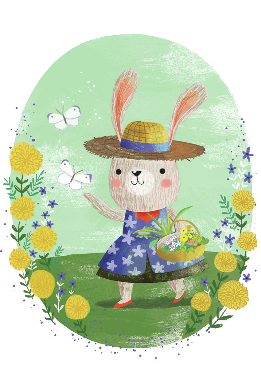Rabbit in garden - Gina Maldonado.jpg