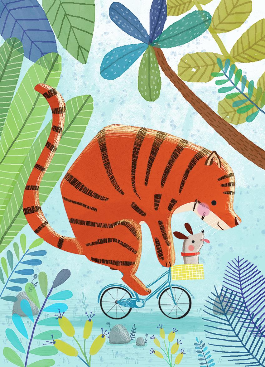 Tiger on bike - Gina Maldonado.jpg