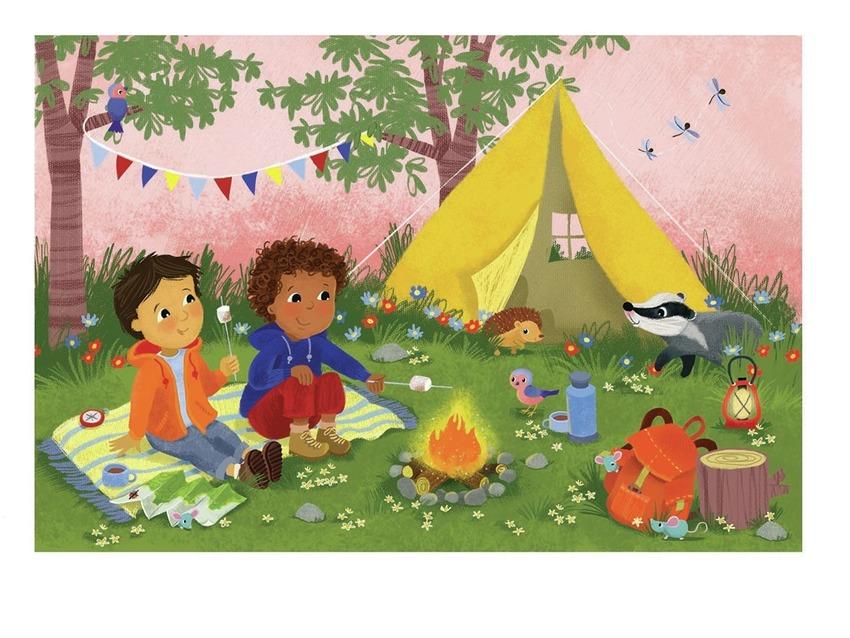 camping boys tent, badger, hedghog,  fire melaniemitchell psd.jpg