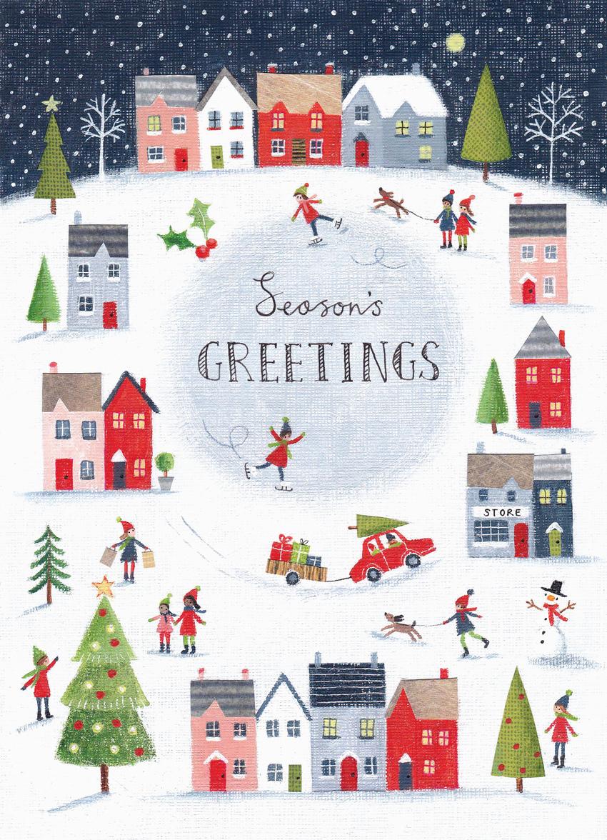 Christmas circular frame winter scene.jpg