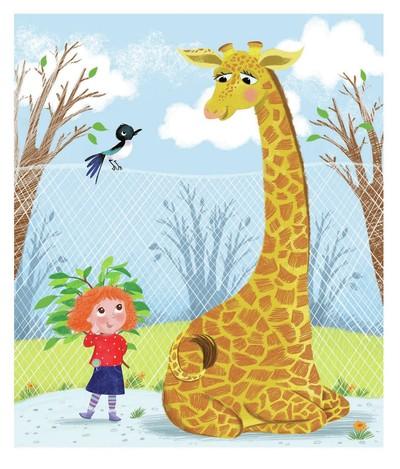 girl-bird-and-giraffe-zoo-melanie-mitchell-jpg