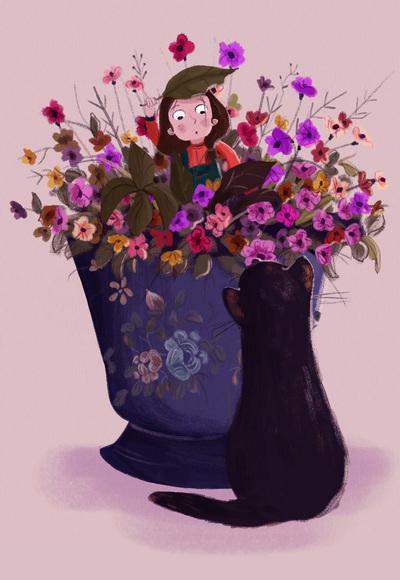 flower-vase-little-girl-black-cat-jpg