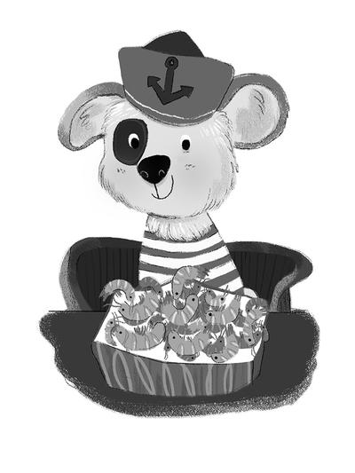 sailor-dog-eating-shrimps-jpg