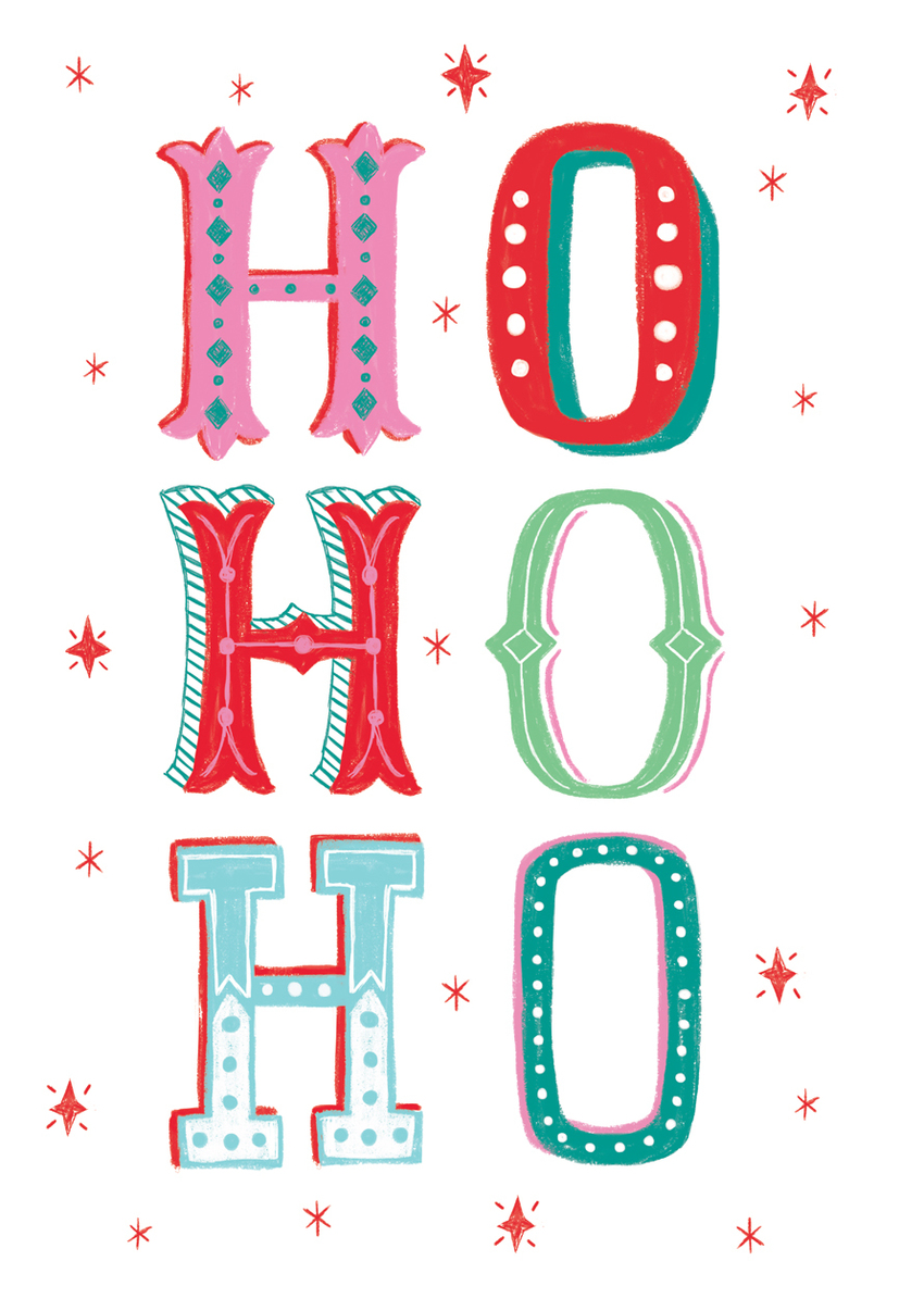 Louise Anglicas_ho ho ho christmas card typography.jpg
