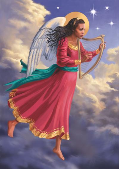 angel-with-harp