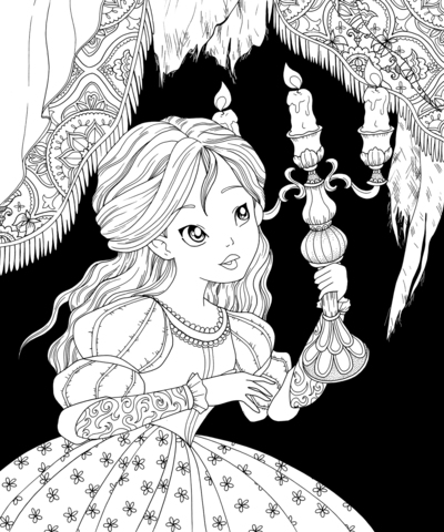 beauty-beast-girl-chandelier-coloring-jpg