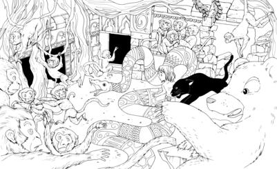 jungle-mowgli-monkey-baloo-bagheera-coloring-jpg