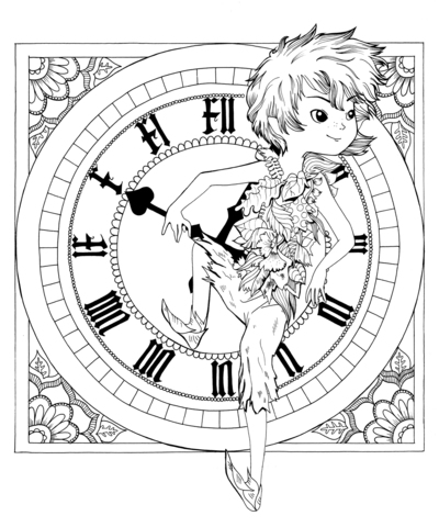 peterpan-clock-coloring-jpg