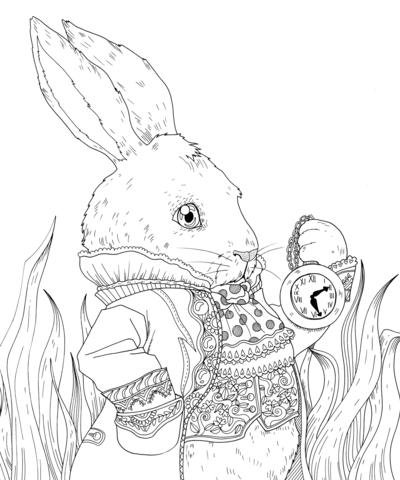 rabbit-clock-coloring-jpg