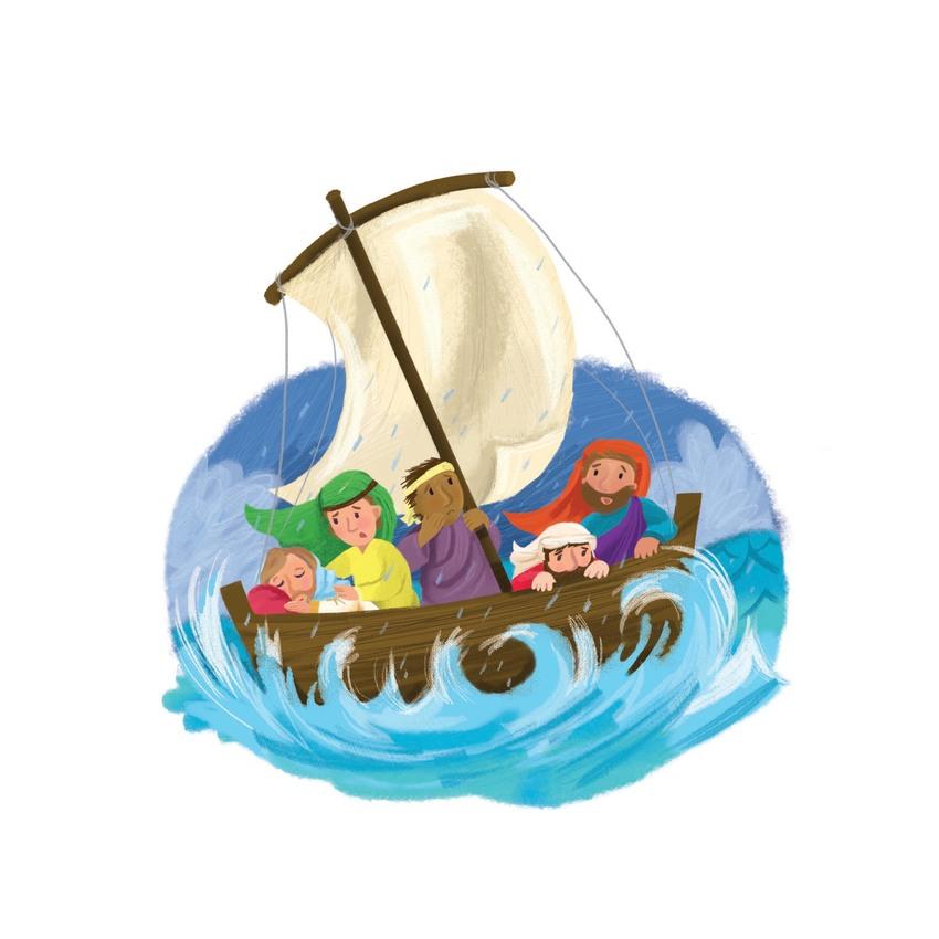 storm, boat, jesus, bible,  religious , jpeg melanie mitchell.jpg