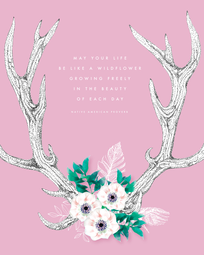 stag-horns-with-flowers-and-feathers-wall-art-notebook-diary-cover-stationery-jpg
