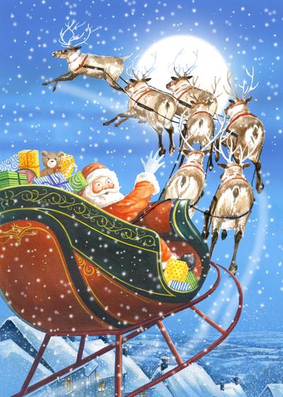 santa-in-sledge-fiona-osbaldstone-jpg