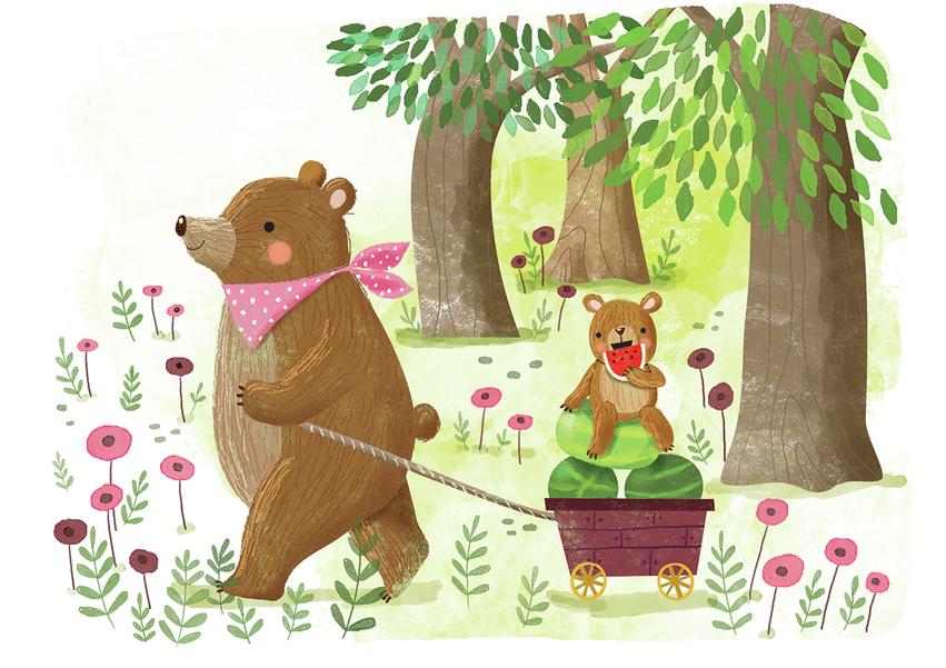 Bear and watermelons - Gina Maldonado.jpg