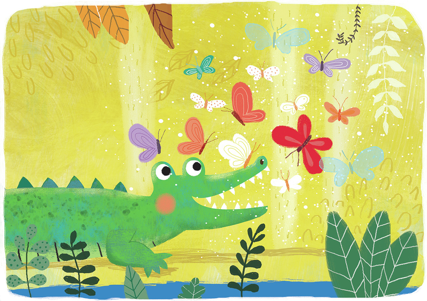 Crocodile and butterflies - Gina Maldonado.jpg