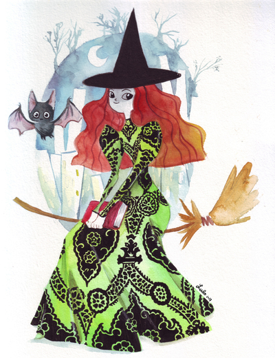 witch-green-dress-and-bat-jpg