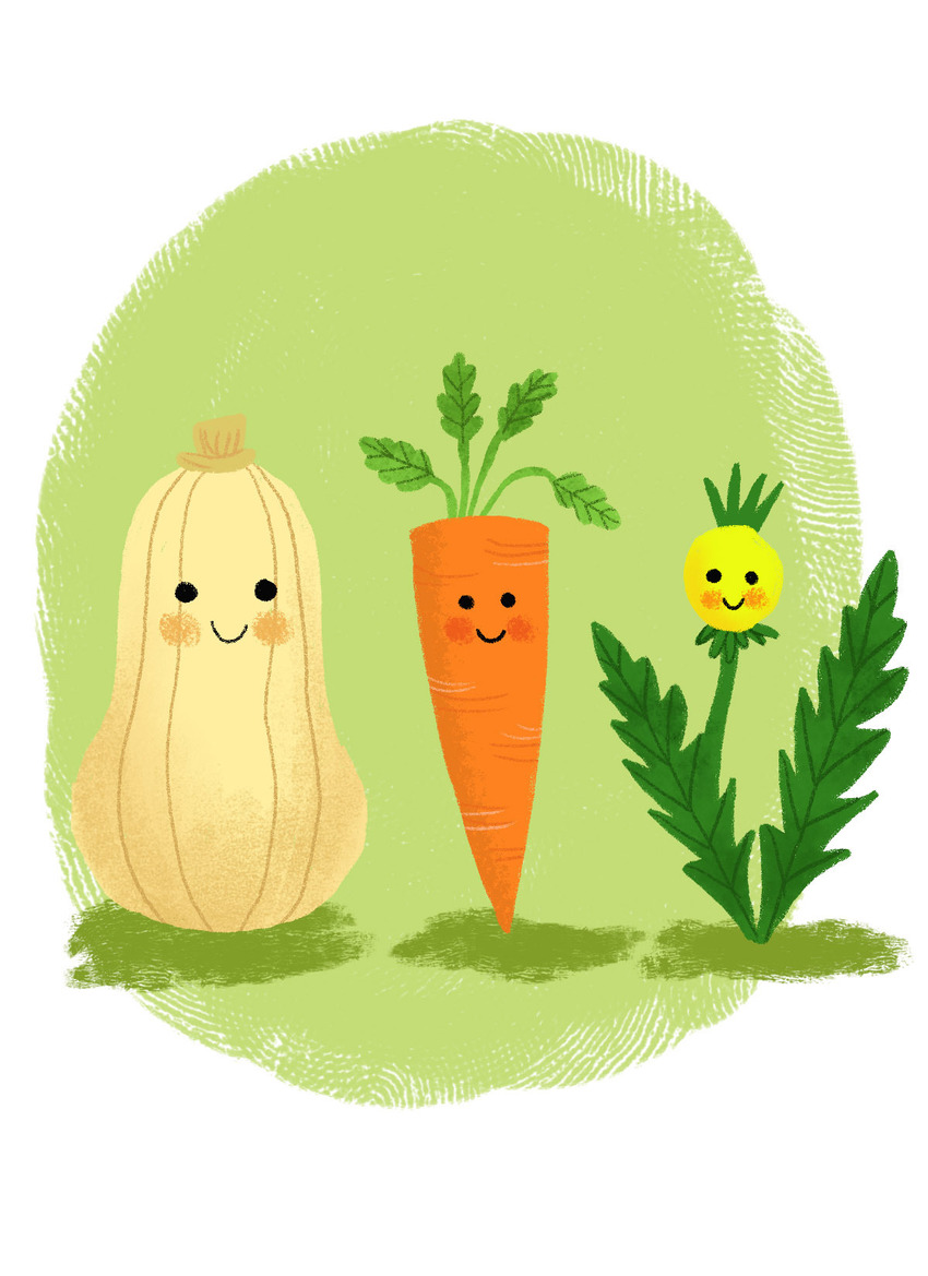 squash carrot and weeds.jpg