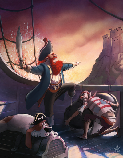 burgythe1st-3-pirates-and-hound-jpg
