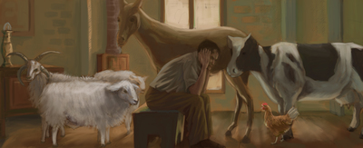 man-in-room-with-animals-jpg